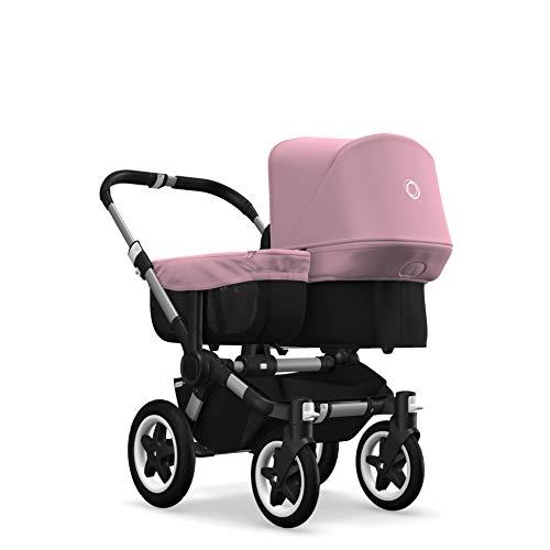 Bugaboo Donkey 2 Mono, Erweiterbarer 2-in-1 Erstlings- und Kinderwagen, Schwarz/Soft Pink