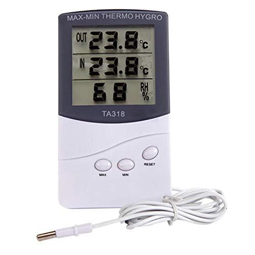 JKHESDF Haus halten Große LCD Digital Thermometer Hygrometer Feuchtigkeit Meter Temperatur Tester Wecker Meter Wetter Station