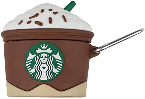 CAR-TOBBY Starbucks Sneeuw Top Koffie Oortelefoon Hoes Voor Airpods 1 2 Case Voor Airpods Beschermende Cover Oortelefoon Oordopje