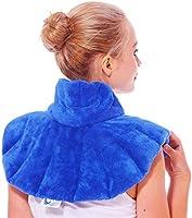 Huggaroo - Cuscinetto riscaldante per collo e spalle, utilizzabile come impacco termico o impacco freddo per dolori al...
