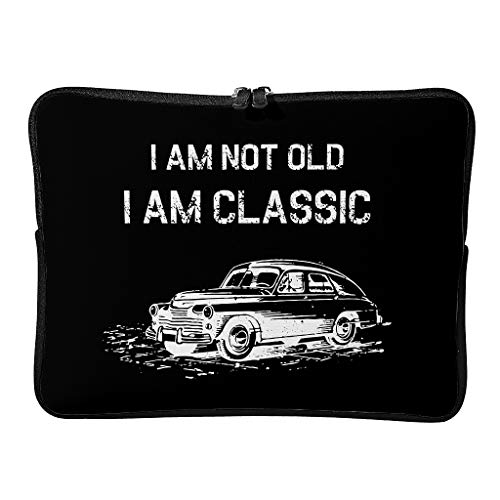 Standard I Am Not Old I Am Classic Laptop Bags Large Funny Laptop Bag Suitable for Business White 12 Zoll