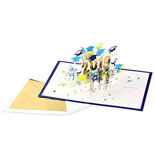 Hallmark Signature Paper Wonder Class of 2019 Graduation Pop Up Card (Congratulations)