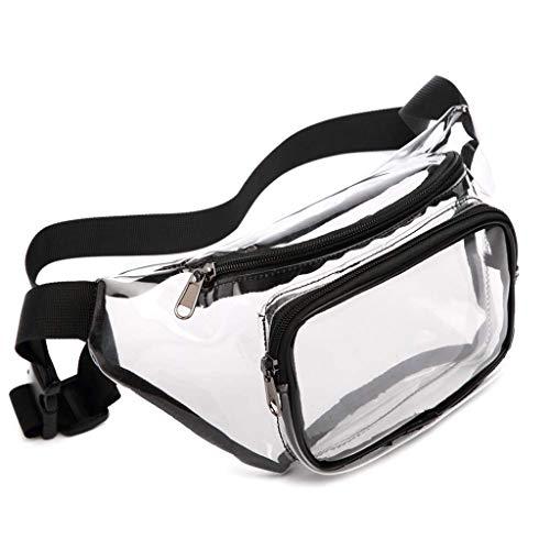 Transparent Waist Bag Waterproof Bum Bag Zippered Fanny Pack Belt Bag Travel Waist Bags Chest Purse Phone Pouch