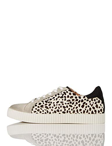 find. Animal Suede Zapatillas, Negro Dalamtion Print, 37 EU