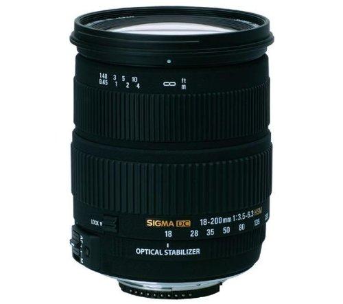 Sigma 18-200mm F3,5-6,3 DC HSM OS stabilisiertes Objektiv (72mm Filtergewinde) für Nikon