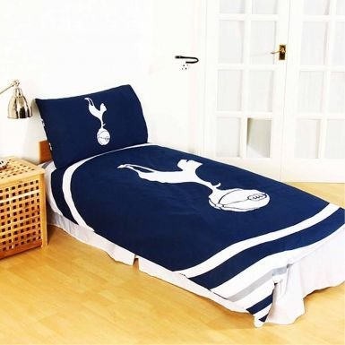 Tottenham Hotspur Official Single Duvet Cover Set With Pillowcase (Reversible)