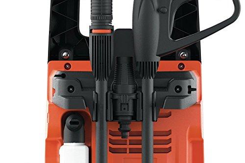 Black+Decker BXPW1400PE Idropulitrice ad Alta Pressione (1400W, 110 bar, 390 l/h) con Patio Cleaner e Spazzola Fissa, Plus
