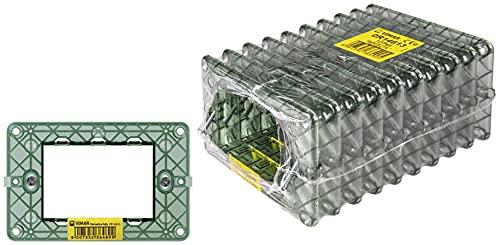 Vimar Plana 0T14613 Supporto 3 moduli, con viti, per scatole 3 moduli, 10 pezzi
