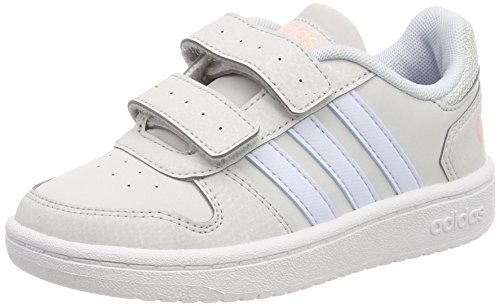 adidas Vs Hoops 2.0 CMF C, Zapatillas de Gimnasia Unisex Niños, Multicolor (Grey One F17/aero Blue S18/ftwr White), 36 EU