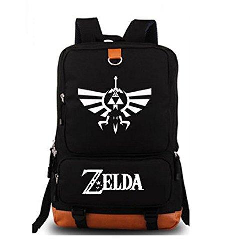 YOYOSHome Luminous Anime The Legend of Zelda Cosplay Daypack Bookbag Laptop Tasche Rucksack Schultasche (Schwarz 2)