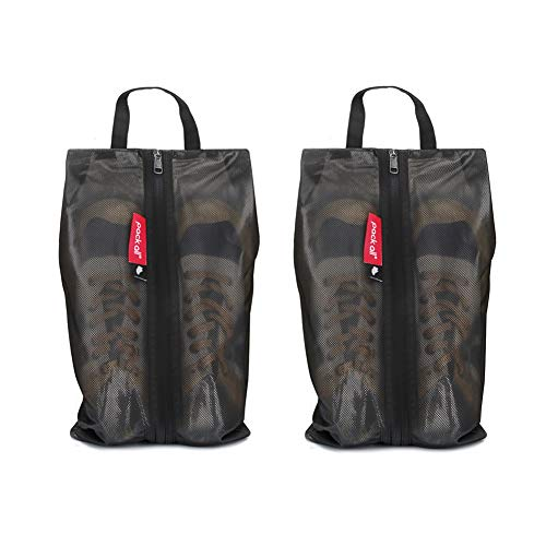 pack all Water Resistant Shoe Bags for Travel, Storage Organizer Pouch with Zipper, Multi-Color for Men Women