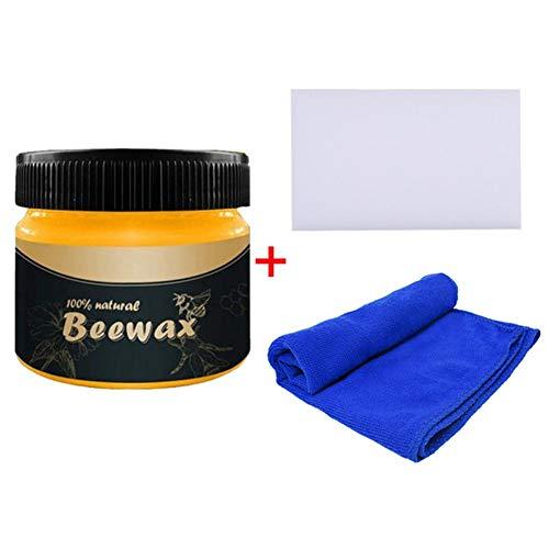 Verzorging van meubels bijenwas, houtgepolijste bijenwas, met multifunctionele wisreiniger, niet-giftige meubelverzorgingswax voor schoonheid en bescherming van de meubels