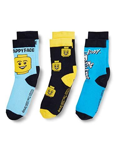 LEGO Jungen Cm Socken, Blau (Dark Navy 590), 31 (Herstellergröße:31/33) (3er Pack)