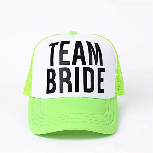DGFB Bride To Be Team Bride Sombreros De Despedida De Soltera Mujer Ropa De Boda Gorras De Camionero Malla De Verano De Neón Blanco