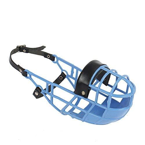 Amordazar Don Pare modelo 101 en azul claro siempre es posible beber, ideal para funcionamiento libre, perrera, jaula, carreras de perros, coche, protección del cebo venenoso por Amathings