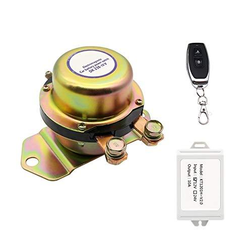shiqi Vehículo Wireless Control Remoto Batería Master Interruptores Master 12V Cortar Off Switch Power Electromagnético Desconexión