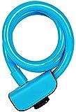 Plztou Bloqueo de Cable de Bicicleta Circular ATRAS CIERCA ANTILIPO con Clave Accesorios DE BICIS DE Seguridad DE Cambio DE Acero 1.2M Bloqueo de Bicicletas (Color : Azul)