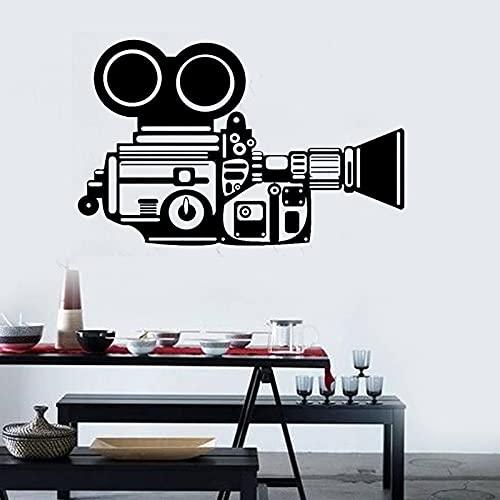 Calcomanía de cámara de película, fotografía de cine, videojuego, sala de juegos, póster, Mural Art Deco, pegatina de pared A9 66x42cm