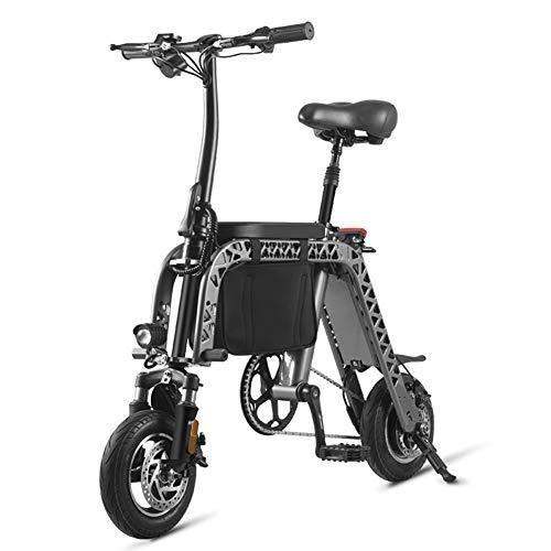 LTLSF Faltendes Elektrisches Fahrrad Der Frauen, Tragbares Elektronisches Multifunktions Fahrrad Mit Kindersitz Brett, Elektrisches Dreirad des Mini-Freizeitrollers Für Erwachsene, 60 Km