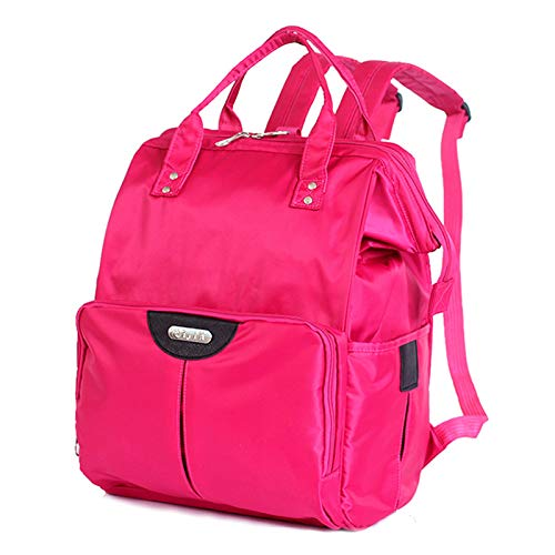 FREETT Multifunctional Trolley Backpack, Bag with Wheels for Boarding and Travel, Luggage Case Bag Unisex, 36 * 26 * 52 cm,Pink