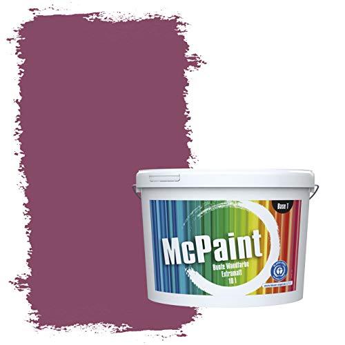 McPaint Bunte Wandfarbe extramatt für Innen Beere 5 Liter - Weitere Violette Farbtöne Erhältlich - Weitere Größen Verfügbar