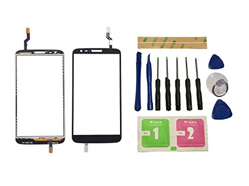 Flügel para LG Optimus G2 D802 Pantalla de Cristal Táctil touchscreen glass display Negro( Sin LCD)de Recambio & Herramientas