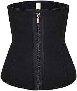 SYMG Neoprene Girdle, Women's Zipped Inner-breasted Corset, Reinforced Waist Seal, Dress Base, Abdomen Body, Black Girdle shapewear women (Size : XS)