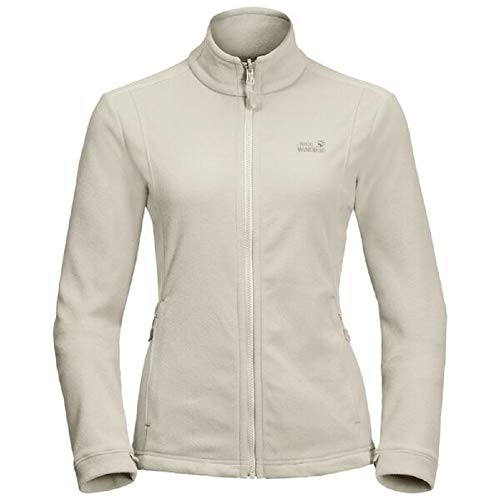Jack Wolfskin Damen Kiruna Jacket W Warme Fleecejacke, White Sand, XL