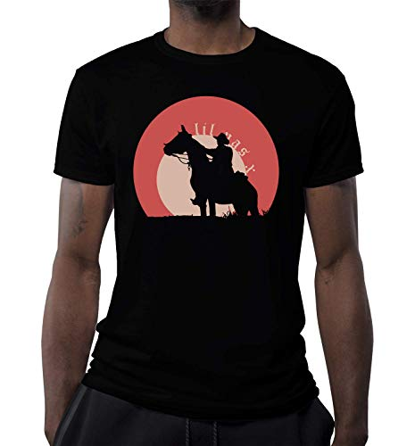 Rapper Cowboy Artwork T-shirt voor heren