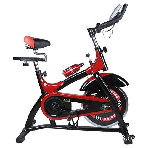 Bicicleta estática para casa, bicicleta estática con monitor multifunción, poco ruido, entrenamiento cardiovascular, con sensores de pulso, ajuste de resistencia, peso de rodamiento 200 kg