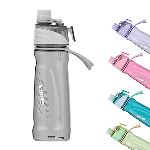 Borraccia da 650 ml con nebbia spray per idratazione all'aperto, ciclismo, arrampicata, escursionismo, alpinismo, palestra, grigio