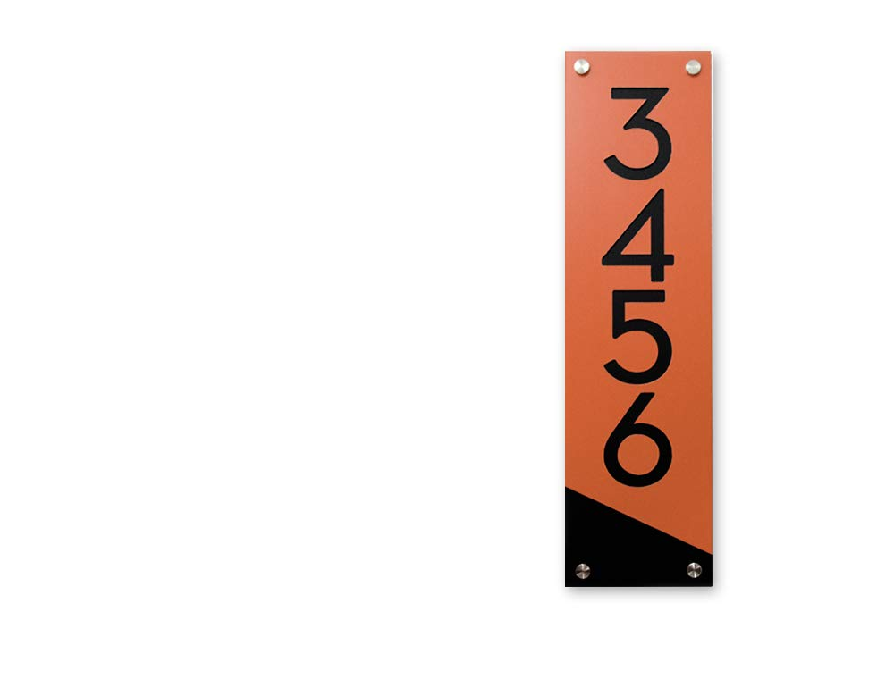 Modern House Numbers Super popular specialty store Orange Alucobond Acrylic with store Vert - Black