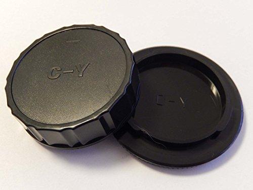 vhbw Objektiv Deckel Set mit CY-System passend für Kamera Contax, Yashica.