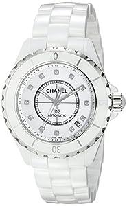 Chanel Men's H1629 J12 Diamond White Dial Watch image