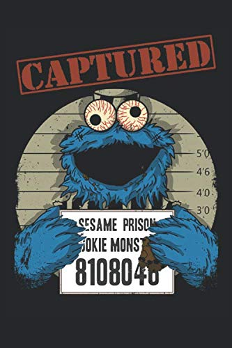 "Captured Cookie Monster: Recipe Book: Cool Novelty Cook Gift ~ Small Notebook (6"" X 9"")"