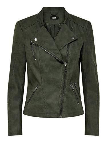 ONLY Damen Onlava Faux Leather Biker Otw Noos Kunstlederjacke, Rosin, 40 EU