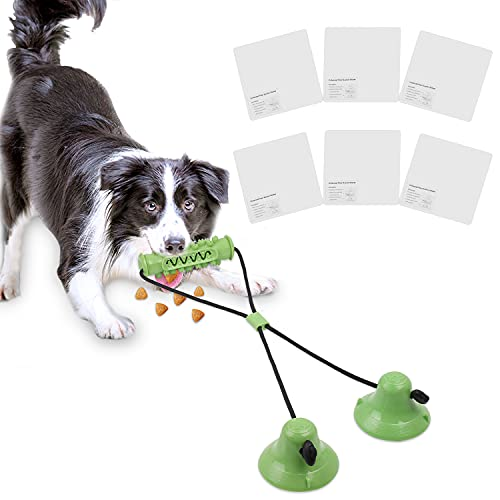 Juguete masticable para Perros, Juguete Multifuncional para mordeduras de molares con Ventosa, Juguetes para Perros pequeños y medianos Grandes, Juguete Interactivo para Perros(Verde)