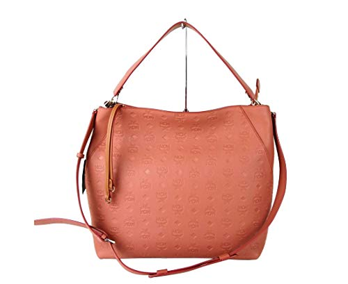 Made of Leather Detachable and Adjustable Shoulder Strap Interior features 2 slip pockets, 1 zip pocket Measurements: Bag Length 13.5; Bag Height: 12.5; Bag Depth: 5.75; Strap drop: 6.5 Inches Original MCM tags, dust bag and authenticity cards includ...