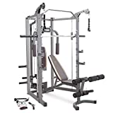 Marcy Smith Cage Machine with Workout Bench and Weight Bar Home Gym...