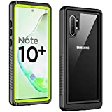 Temdan New Designed for Waterproof Samsung Galaxy Note 10 Plus Case,Clear Sound Quality Built in Screen Protector with Fingerprint ID Film IP68 Waterproof case for Samsung Note 10 plus/5G (Green)