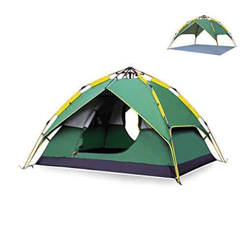 JX-ZHANGPENG Automatische Camping Pop-Up Tent voor 3-4 Person Luchtdruk Tent Dubbele Laag Waterdichte Dome Tent Luifel Schuur met Draagtas - 200×180×135Cm