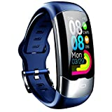 Topuality IP67 Waterproof Smart Watch Fitness Smart Bracelet Heart Rate Blood Pressure Blood Oxygen Monitor Step Counter Calorie Counter Sports Watch Health Monitor BT Bracelet Smartwatch Sports