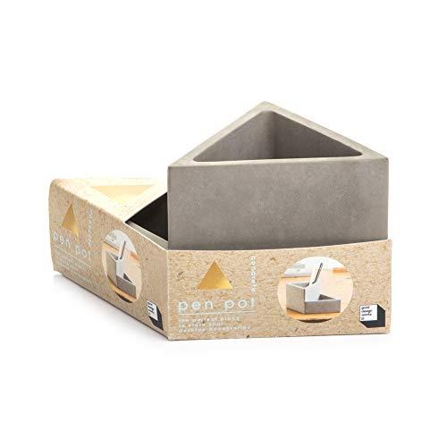 Good Design Works Concrete Desk Organizer & Pen Holder   Office Organization   Pencil Holder for Desk   Pen Cup  