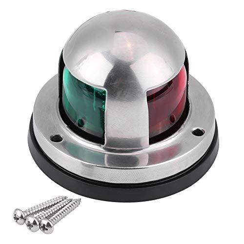 12V / 24V LED Luz de Señal de Navegación Marina Barco Acero Inoxidable Rojo y Verde LED Lámpara de Señal de Navegación Yate Accesorios