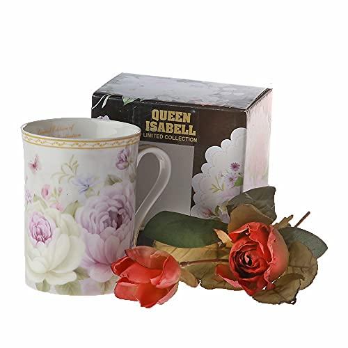 Villeroy & Boch Flower Queen Isabell - Taza de porcelana, incluye caja de regalo