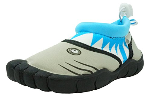 Fresko Toddler Water Shoes for Boys, Shark T1524, Turquoise, 10 M US...