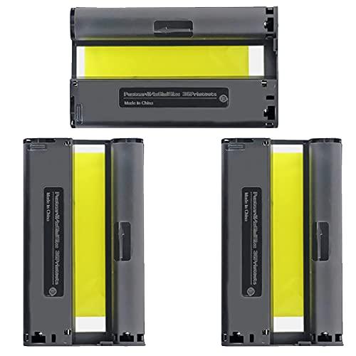 B-T Merotoner - Juego de 3 cartuchos de tinta para impresoras fotográficas Canon KP108 KP108IN con Canon Selphy CP1300, CP1200, CP910, CP1000, CP900, CP820, CP810, CP800, CP780, CP770 y CP760