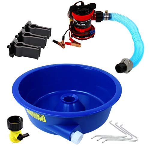 Azul cuenco concentrador Kit w/bomba y pierna niveladores