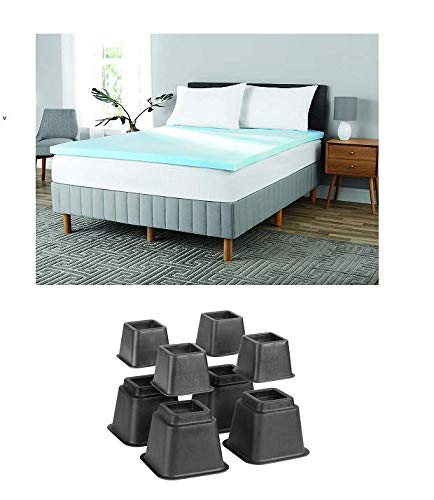 Mainstay 2' Gel Infused Memory Foam Mattress Topper with Risers (King)