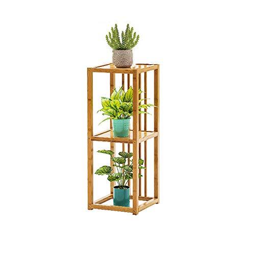Supports pour Plantes en Bambou, Banc de Plantes Haut D'angle à 3 Niveaux, Présentoir Pliant pour Petites Plantes, Support de Rangement pour Organisateur de Pots de Jardinière en Bois pour Bureau